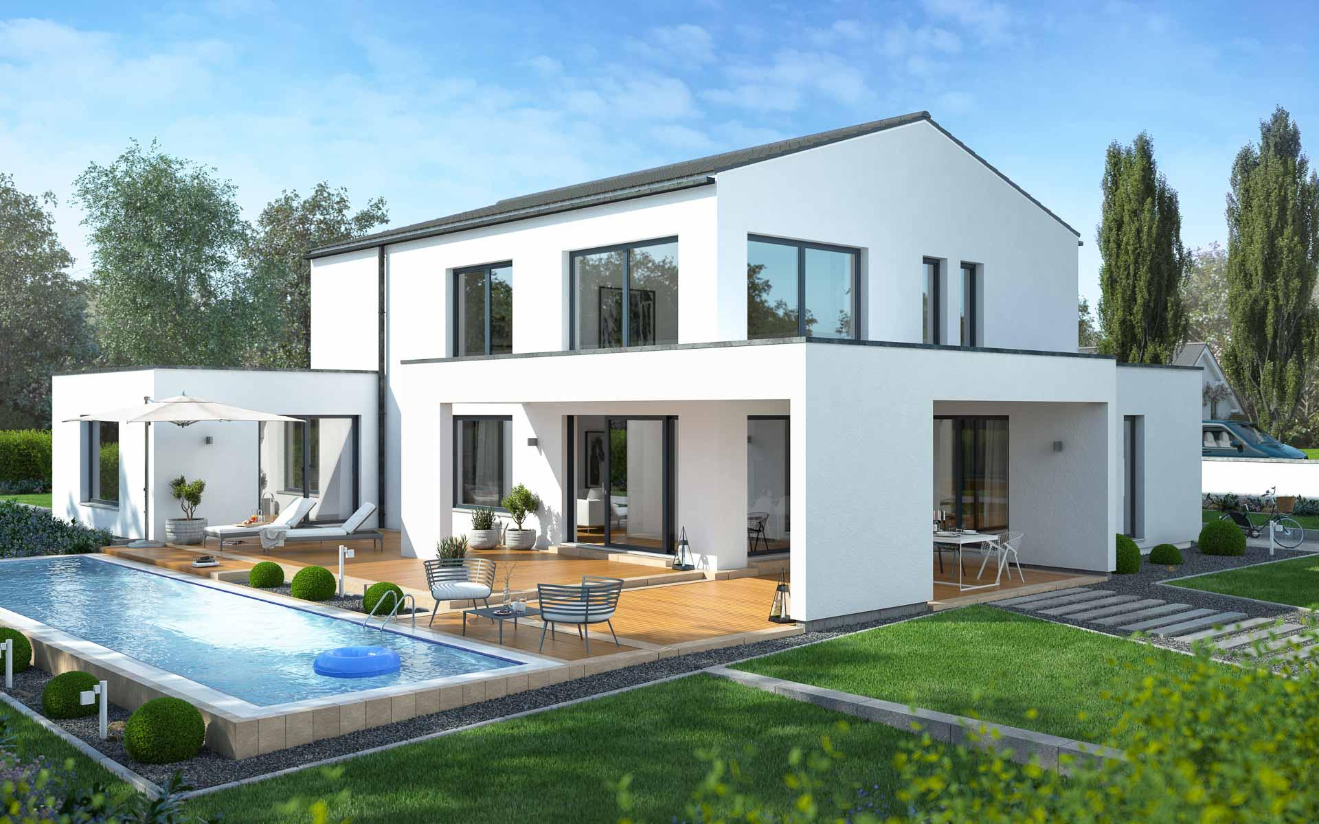 Einfamilienhaus in moderner Architektur | mkm traumhäuser