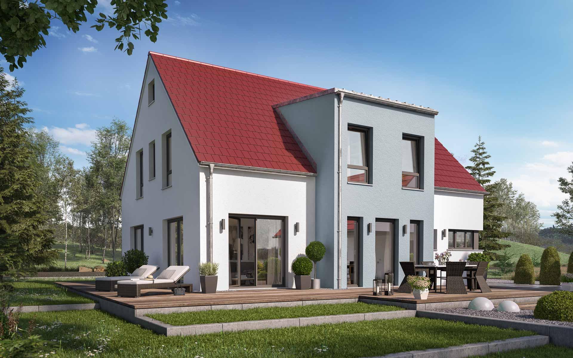 Extrem Klassisches Satteldach-Haus modern interpretiert | mkm traumhäuser PL32