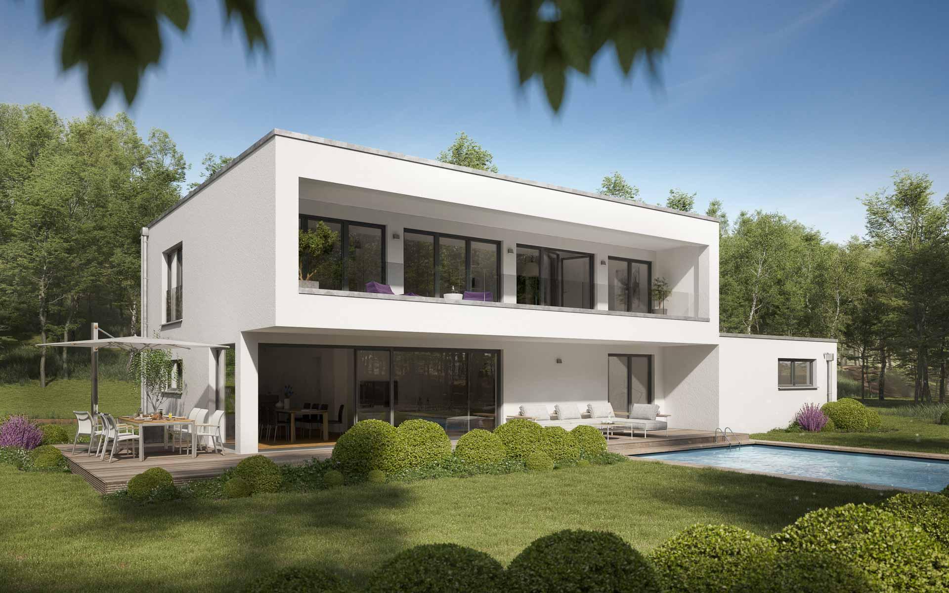 Bauhaus-Architektur: Einfamilienhaus mit klaren Linien | mkm ...